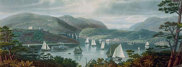 West Point from Phillipstown. W. J. Bennett, 1831