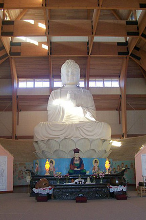 Buddha at Chuang Yen Monastery in Carmel