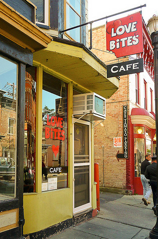 Love Bites Cafe in Saugerties, New York. Photo: Art Buesing