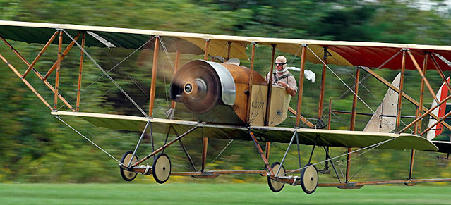 WWI Caudron G.III, Pioneer Aircraft Day at Old Rhinebeck Aerodrome. Photo: Sean Traynor
