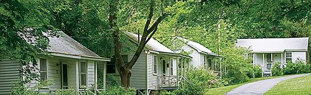 Cabins at Omega Institute in Rhinebeck; Photo: Omega Institute for Holistic Studies