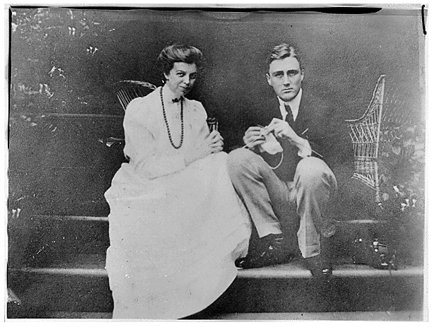 Franklin and Eleanor Roosevelt in Hyde Park