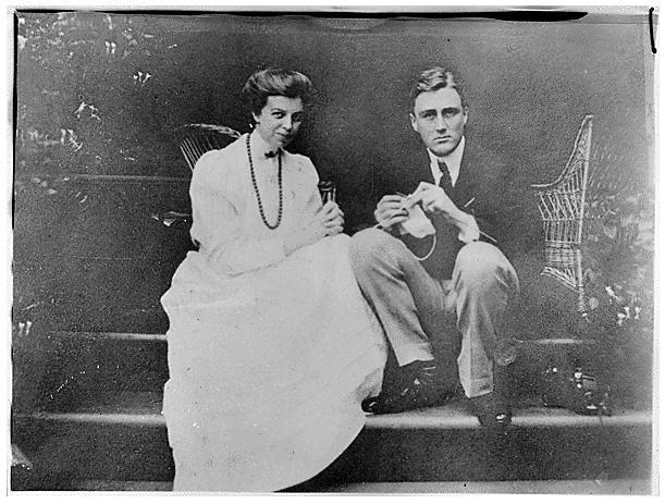 Franklin D. Roosevelt and Eleanor Roosevelt in Hyde Park, New York, 1906
