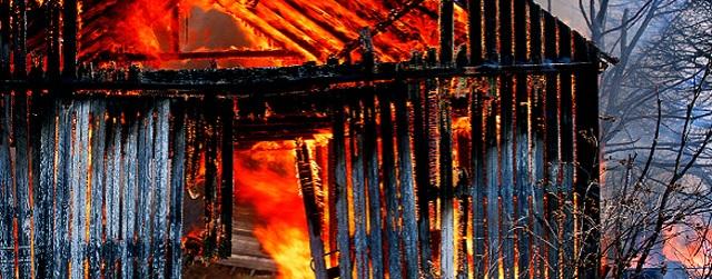 burning barn